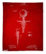1899 Golf Tee Patent Artwork Red Fleece Blanket