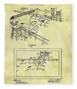 1899 Horse Racing Track Patent Fleece Blanket