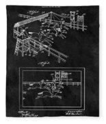 1899 Horse Track Patent Fleece Blanket