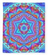 Birth Mandala- Blessing Symbols Fleece Blanket