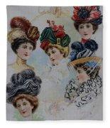 19 Century Ladies Hats The Delineator Early Autumn Hats Fleece Blanket