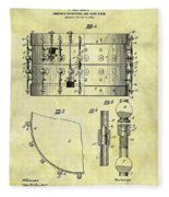 1900 Band Drum Patent Fleece Blanket