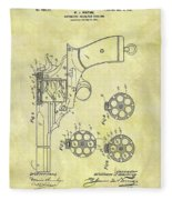 1901 Automatic Revolver Patent Fleece Blanket