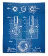 1902 Golf Ball Patent Artwork - Blueprint Fleece Blanket