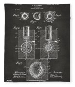 1902 Golf Ball Patent Artwork - Gray Fleece Blanket