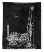 1902 Oil Well Patent Fleece Blanket