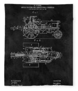 1903 Tractor Blueprint Patent Fleece Blanket