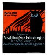 1907 Berlin Exposition Poster Fleece Blanket