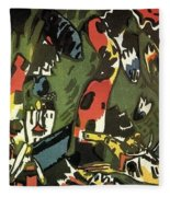 1909 Vasily Kandinsky Fleece Blanket