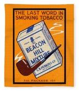 1910 Beacon Hill Pipe Tobacco Fleece Blanket