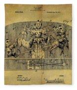 1910 Toy Circus Patent Fleece Blanket