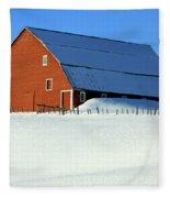 1912 Finnish Barn Valley County Fleece Blanket