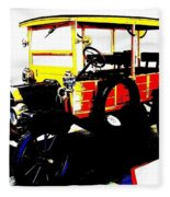 1912 Ford Model T Taxi Fleece Blanket