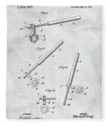 1913 Wrench Patent Illustration Fleece Blanket