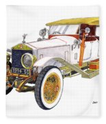 1914 Rolls Royce Silver Ghost Fleece Blanket