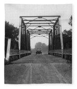 1915 Hudson Road Bridge Fleece Blanket