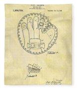 1916 Baseball Glove Patent Fleece Blanket