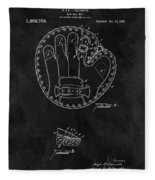 1916 Baseball Mitt Patent Fleece Blanket
