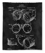 1917 Welder Goggles Fleece Blanket