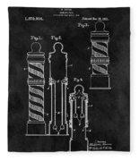1921 Barber Pole Illustration Fleece Blanket