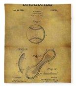 1924 Baseball Patent Fleece Blanket