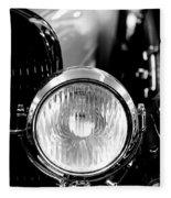 1925 Lincoln Town Car Headlight Fleece Blanket