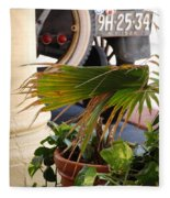 1926 Model T And Plants Fleece Blanket