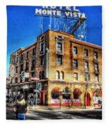 1927 Hotel Monte Vista - Flagstaff  Fleece Blanket