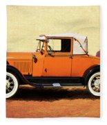 1928 Classic Ford Model A Roadster Fleece Blanket