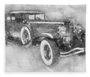 1928 Duesenberg Model J - Automotive Art - Car Posters Fleece Blanket