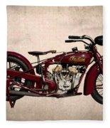 1928 Indian Motorcycle Fleece Blanket