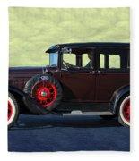 Historical Ford 4 Door Sedan Fleece Blanket
