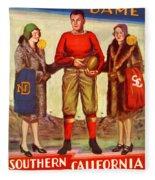 1929 Notre Dame Versus Southerncal Fleece Blanket