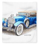1929 Packard Dual Cowl Phaeton Fleece Blanket