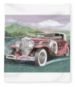 1930 Model J  Duesenberg Fleece Blanket