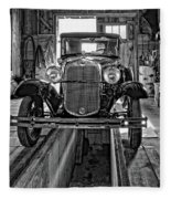 1930 Model T Ford Monochrome Fleece Blanket