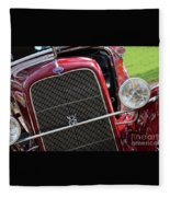 1930 Red Ford Model A-front-8886 Fleece Blanket
