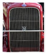 1930 Red Ford Model A-grill-8885 Fleece Blanket