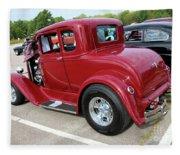 1930 Red Ford Model A-rear-8902 Fleece Blanket