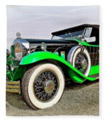 1930 Willys Knight 66b-plaidside Fleece Blanket