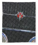 1931 Cadillac Phaeton Grille And Headlights Fleece Blanket