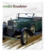 1931 Chevrolet Antique Roadster Fleece Blanket