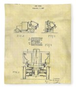 1931 Dump Truck Patent Fleece Blanket