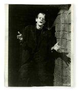 1931 Frankenstein Boris Karloff Fleece Blanket