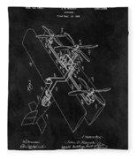1931 Plane Patent Fleece Blanket