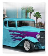 1932 Ford 'down Town' Coupe Fleece Blanket