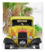 1932 Ford Five-window Coupe 'head On' I Fleece Blanket