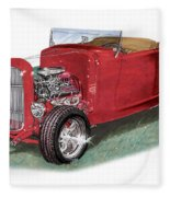 1932 Ford Hi-boy Hot Rod Fleece Blanket