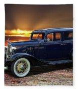 1933 Chevrolet 4 Door Eagle Sedan Fleece Blanket