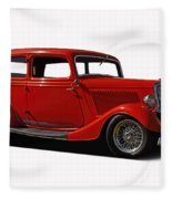 1934 Ford 2 Door Sedan Fleece Blanket